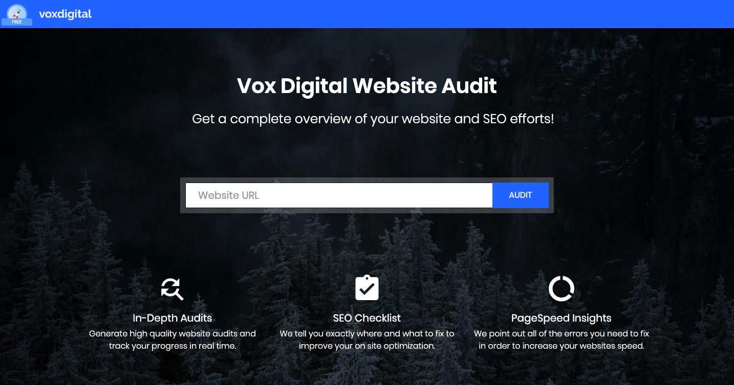 Vox Digital Website & SEO Auditor